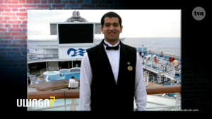 Csaba as a worker on a Princess Cruises Ship