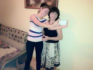 Martha Herda with her sister