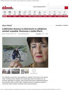 Interview with Martha Herda's Mother in Dziennik Wschodni