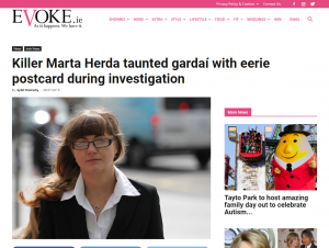Screenshot of article on evoke.ie