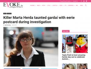 Screenshot of article on evoke.ie