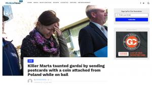 Screenshot of article in Wicklow News